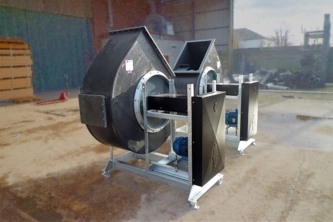 BI-Series backward inclined centrifugal fans - High efficiency backward inclined centrifugal plastic fans manufactured in Manchester