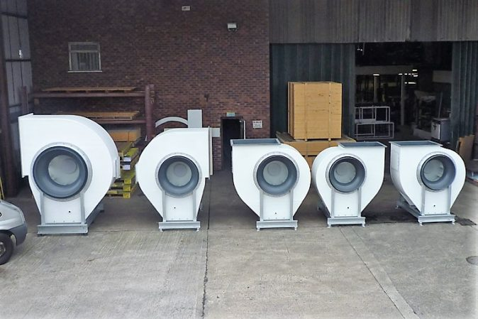 BI-Series centrifugal fans - High efficiency backward inclined centrifugal fans leaving for Egypt