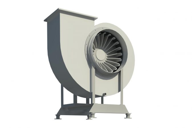Design - render for H-Series centrifugal fan