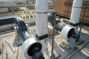 G-Series centrifugal fans - polypropylene various discharge forward curved multivane installed in Mexico