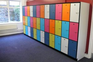 Locker design brought to life in APMG's factory