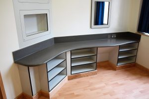 Pupil Referral Unit - seamless Corian surface, sturdy Trespa furniture for safety and security