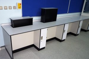 Pupil Referral Unit secure rise and fall IT screen units