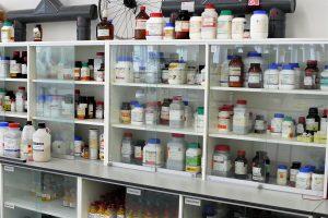 School prep rooms lockable vented wall cabinet in service