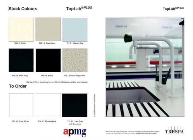 TopLab Plus lab worktops latest colour choices