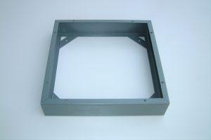 A steel pedestal base